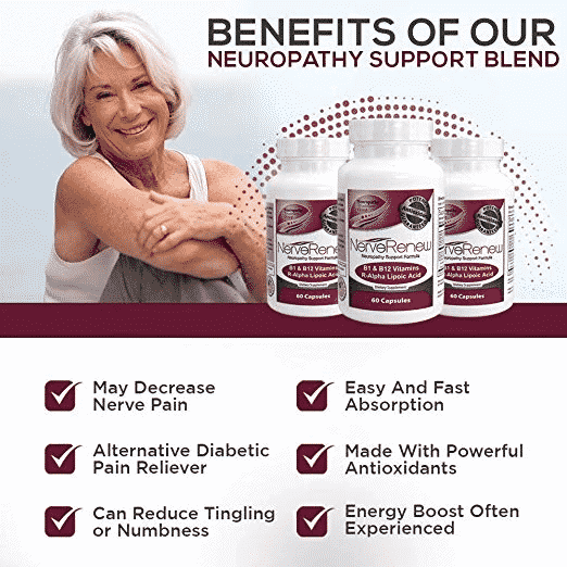 Benefits of the neuropathy support blend banner