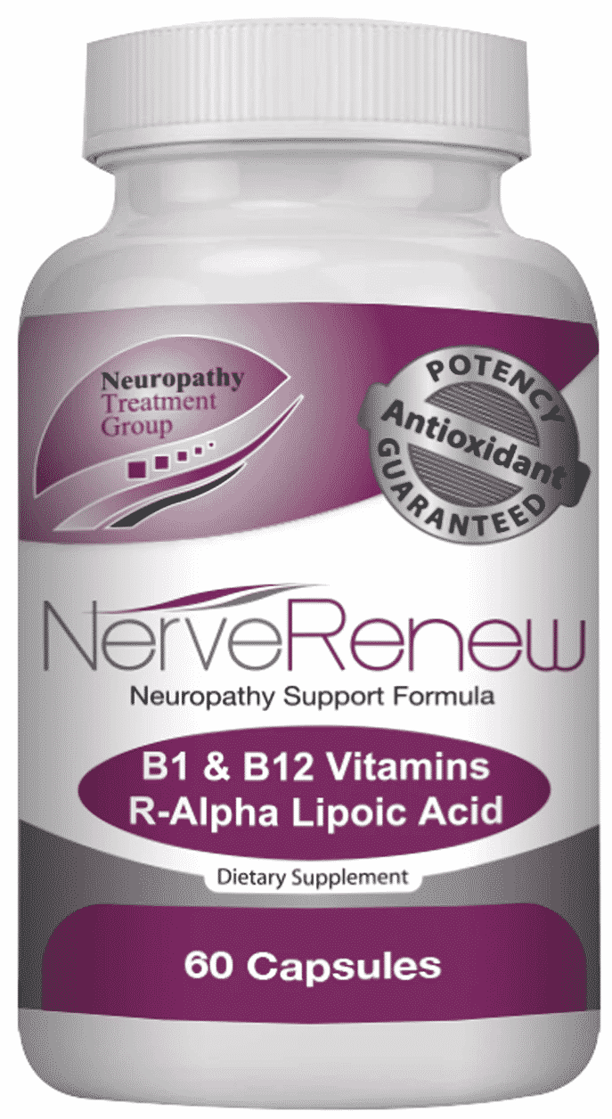 60 Capsules bottle of Nerve Renew Neuropathy Support Formula dietary supplement